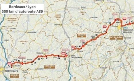 Prolongement de l'A89 : Bordeaux à 5 heures15 de Lyon - Aqui.fr | BIENVENUE EN AQUITAINE | Scoop.it