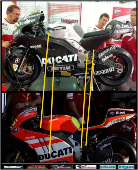 Twitter   @motomatters   David Emmett   Comparison of GP Zero and GP 12 by @Wiggysan   Ductalk Ducati News   Scoop.it