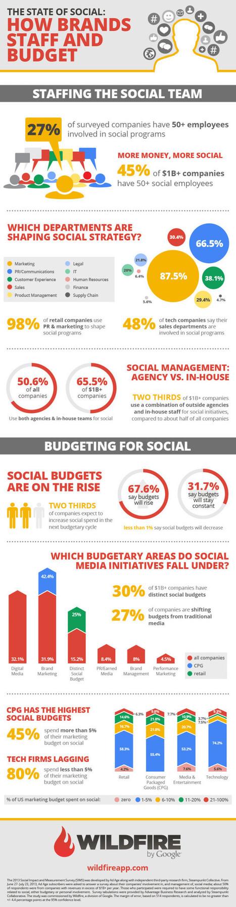 Secteurs et Budgets alloués aux Réseaux Sociaux | Infographie | Community Manager #CM #Aquitaine | Scoop.it