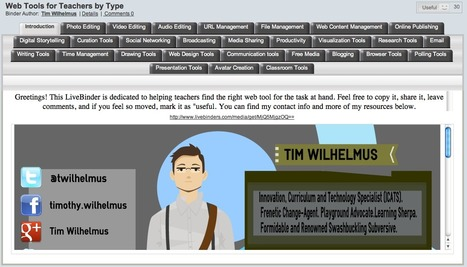 Web Tools for Teachers by Type - LiveBinder | Searching & sharing | Scoop.it