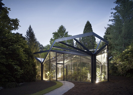 Greenhouse of steel trees in Switzerland: a pavilion inspired by nature | sustainable architecture | Scoop.it