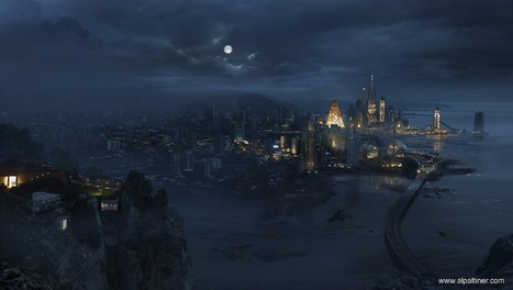 Futuristic City - Digital paintings, Scenery/Landscapes | Awesome digital art | Scoop.it