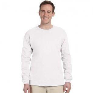 8638348bffd Gildan Plain White 100% Ultra Cotton long sleeve T-Shirt