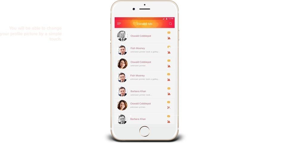 Online Dating app för iPhone
