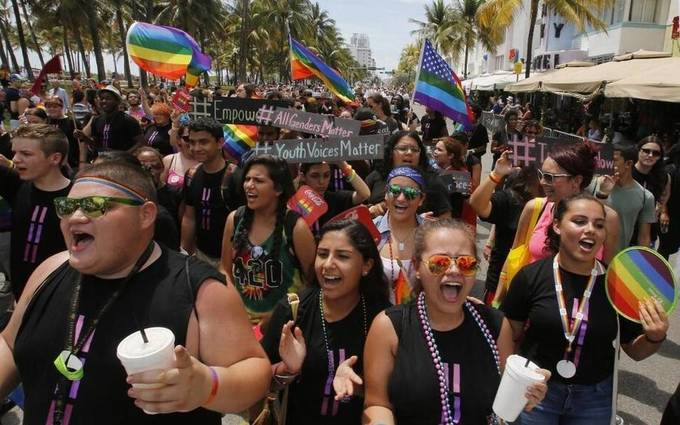 Lincoln Road landmarks will be lit with rainbow colors to mark Miami Beach Gay Pride