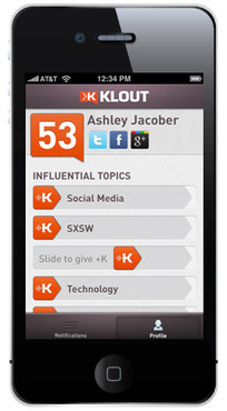 Klout for iPhone: A Big Update « The Official Klout Blog | Klout | Social Media Goodies | Scoop.it
