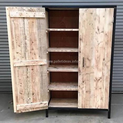 Reclaimed Wooden Pallets Closet Idea