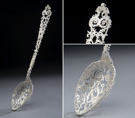 #Ornate #Tableware #Sculpted in #Gold and #Silver #Filigree by Wiebke Maurer. #art #design | Luby Art | Scoop.it