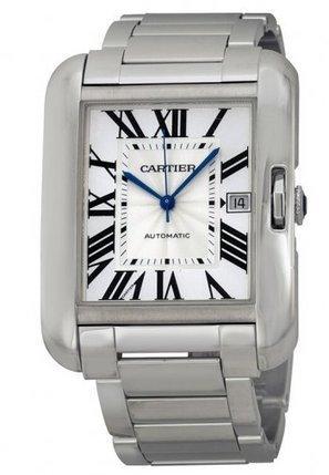 eaed811858fc Replicas Reloj Cartier Tank Anglaise Oro Blanco Reloj Hombres W5310025