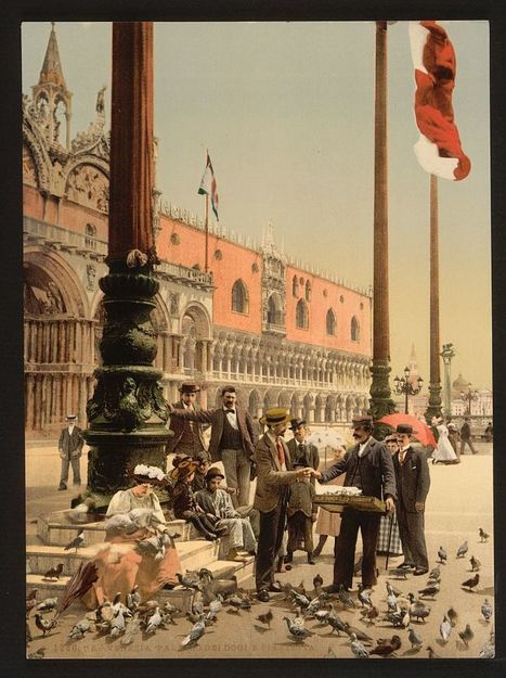 See Venice in Beautiful Color Images 125 Years Ago: The Rialto Bridge, St. Mark's Basilica, Doge's Palace & More | Jay Cross | Scoop.it