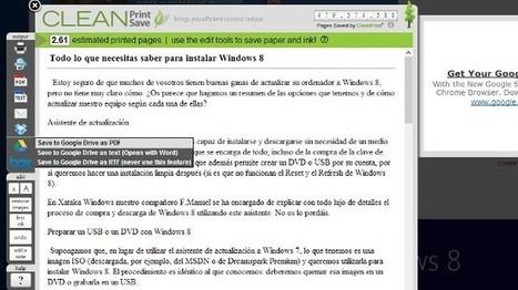 Guarda páginas web en Drive, Box o Dropbox desde Chrome con CleanSave | Las TIC y la Educación | Scoop.it