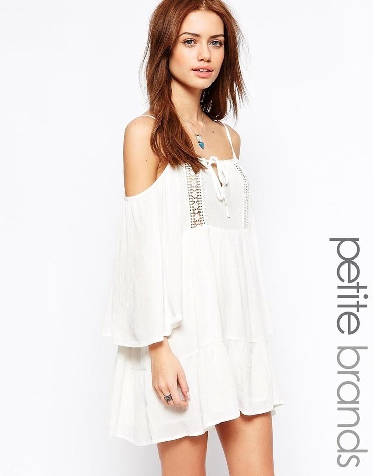 81b6fc6560 Ecru Cheesecloth Swing Dress