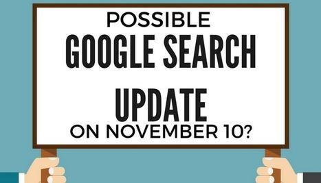 Une possible mise a jour dans la serp Google le 10 novembre 2016 #seo | Veille SEO - Référencement web - Sémantique | Scoop.it