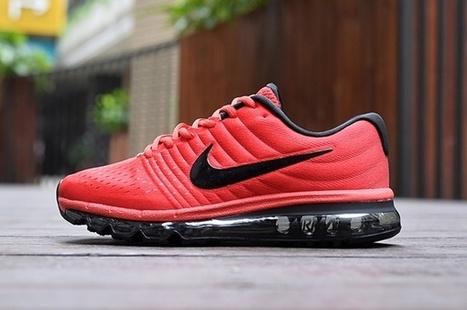 Nike Air Max 2017 Red Black Men Shoes [airmax 1