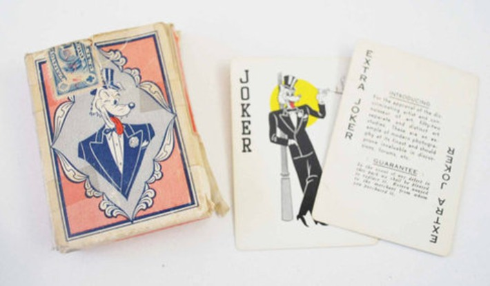 """Vintage Risque """"Art Studios"""" Playing Cards - Full deck & joker - Hurley Burley What a Girlie - Perfect gift for the man-about-town 