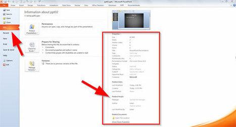 Cómo Cambiar el Nombre de Autor en Propiedades de Archivo PPT - Plantillas Power Point | Presentaciones PowerPoint | Scoop.it