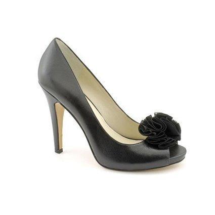 7f746b04fcd0 Nine West Excavate Womens Size 9 Black Leather Pumps Heels Shoes