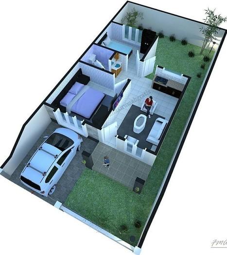 Gambar Desain Rumah Minimalis 6 X 9  100 denah rumah minimalis 6a 10 m type 60