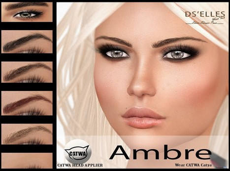 Ambre Catwa Head Applier Group Gift by DS'ELLES | Teleport Hub - Second Life Freebies | Second Life Freebies | Scoop.it