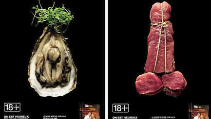 Des affiches ultra coquines pour un guide des restos | Mais n'importe quoi ! | Scoop.it