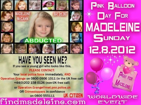 Pink Balloon Day for Madeleine 12th August - Freeway Ricky Ross Social Media | Juvenile Justice | Scoop.it