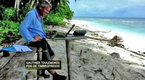 Telecommute: Frenchman runs business from deserted remote island - DigitalJournal.com | TechSoup's Audio and Video Conferencing Toolkit | Scoop.it