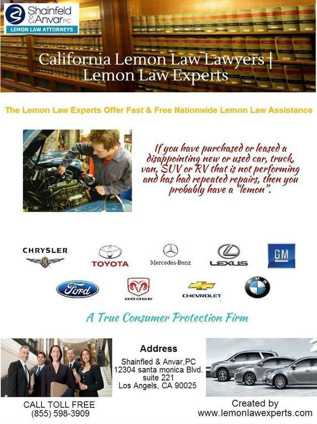 Lemon Law California >> Lemon Law Attorneys In Los Angeles Lemon Law