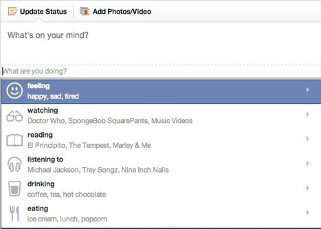 Facebook Rolling Out Emoticons, Actions In Status Updates To More Users - AllFacebook   Ghifar   Scoop.it