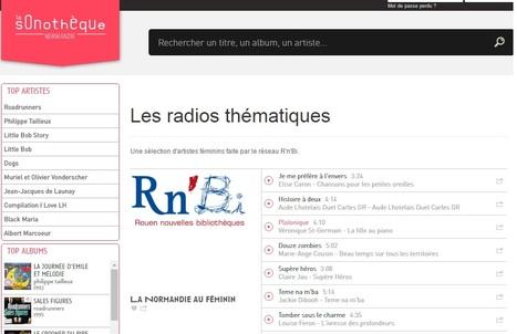 Radios thématiques Rouen Nouvelles Bibliothèques sur le site deLa Sonotheque Normandie | Musique en bibliothèque | Scoop.it