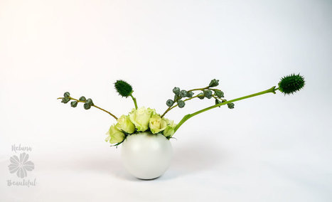 How to make an easy centerpiece • Ikebana Beautiful | TRENDBUBBLES | Scoop.it