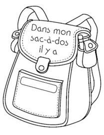 Madame Belle Feuille: dans mon sac-à-dos | Primary French Immersion Education | Scoop.it