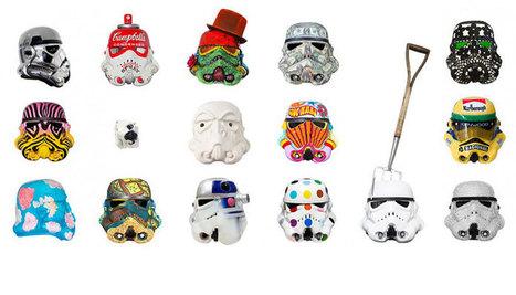 Renowned artists reinterpret stormtrooper helmets for art wars   All Geeks   Scoop.it