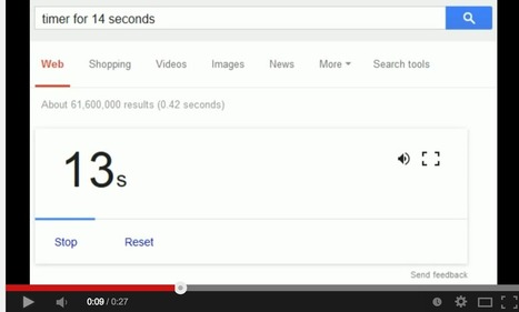Google Now Releases a Free Countdown Timer ~ Educational Technology and Mobile Learning | Jewish Education Around the World | Scoop.it