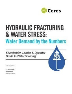 Hydraulic Fracturing & Water Stress: Water Demand by the Numbers | IssueLab | Water, Weather, Climate | Scoop.it