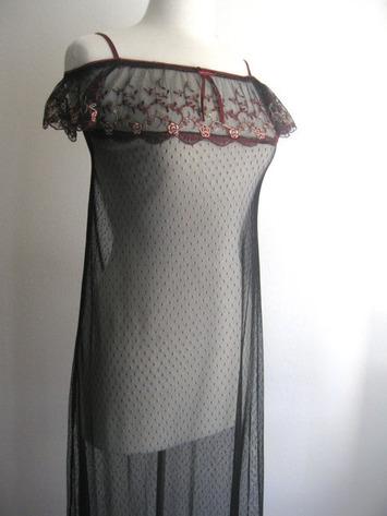 Vintage Black Sheer Off the Shoulder Gown | Lingerie Love | Scoop.it