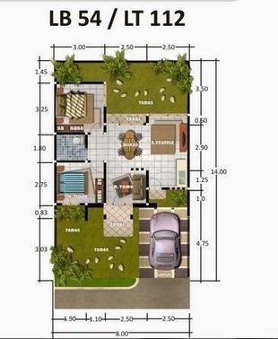 Desain Rumah Minimalis Type 54 Rumah Unik Min