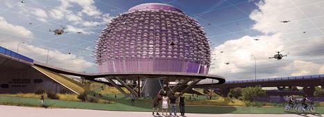 Saúl Ajuria Fernandez imagines a futuristic 'urban DRONEPORT' | The Architecture of the City | Scoop.it