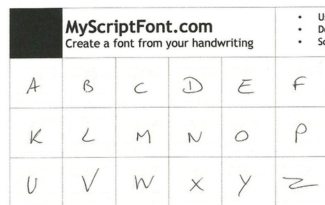 Créez une police à partir de votre écriture manuscrite. | Web mobile - UI Design - Html5-CSS3 | Scoop.it