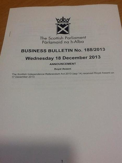 Twitter / FionaHyslop: announcement that The Scottish ... | SayYes2Scotland | Scoop.it
