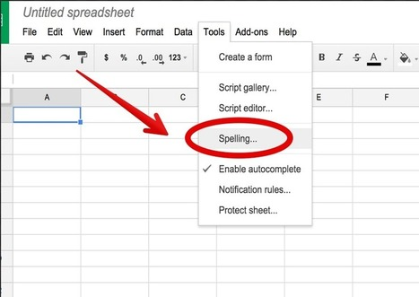 Google Sheets Now Supports Spell Check ~ Educational Technology and Mobile Learning | Meet Them Where They Are: Using The Student's Technology To Teach | Scoop.it