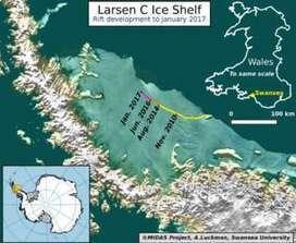 Huge Antarctic iceberg poised to break away - BBC News | Education for Sustainable Development | Scoop.it