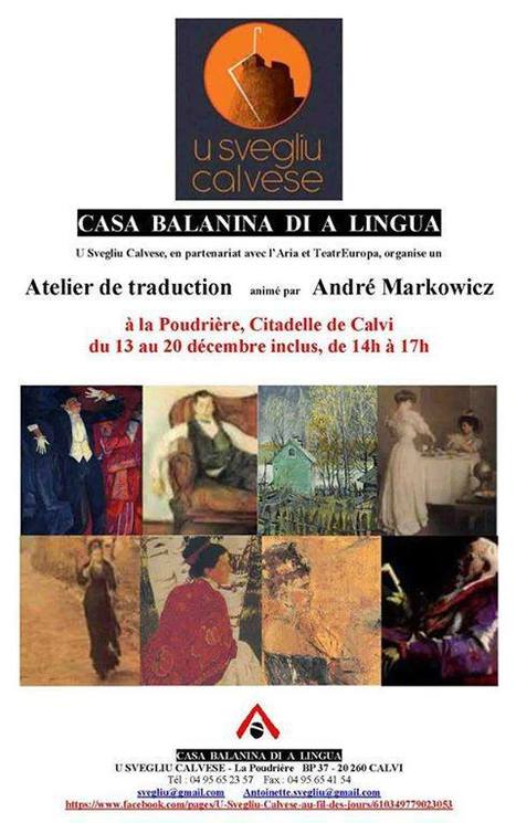 Casa balanina di a lingua  |  Prochain atelier de traduction d'André Markowicz  :  fin avril 2014 | TdF  |   Culture & Société | Scoop.it