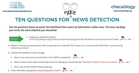 10 Questions for Fake News Detection | Learning Technology News | Scoop.it