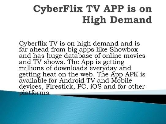CyberFlix TV APP APK | Scoop it