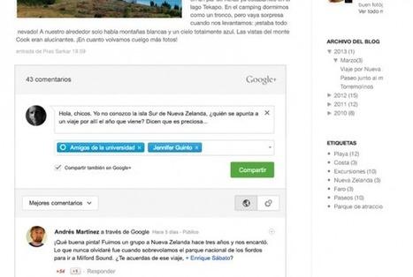 Comentarios en Google Plus ya integrados en Blogger.- | Google+, Pinterest, Facebook, Twitter y mas ;) | Scoop.it