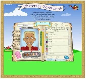 Free Technology for Teachers: Character Scrapbook - A Template for Reflecting on Stories | Literacy Using Web 2.0 | Scoop.it