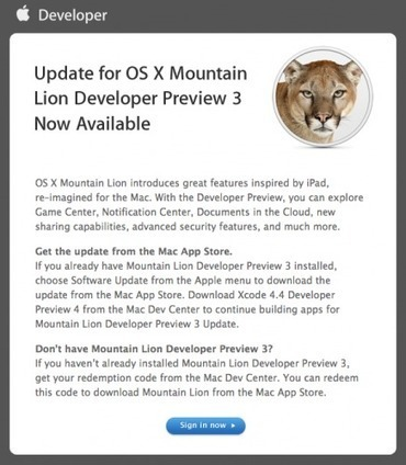 Apple Updates Mac OS X 10.7.4 Mountain Lion Developer Preview 3 ~ Geeky Apple - The new iPad 3, iPhone iOS 5.1 Jailbreaking and Unlocking Guides   Apple News - From competitors to owners   Scoop.it