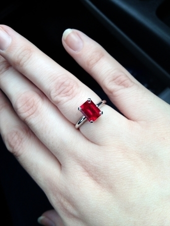 How to Wear Ruby Manik Stone Day Time Finger Ma...