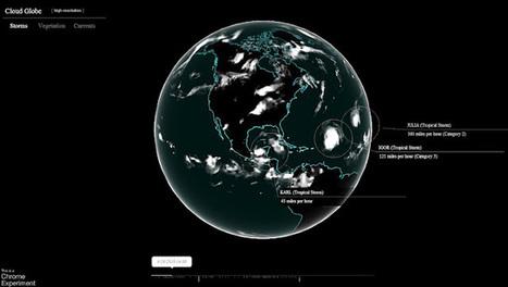 Geoinformación: El nuevo experimento de Google Chrome: Análisis meteorológico de la tierra   #GoogleEarth   Scoop.it