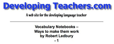 Robert's Vocabulary Notebooks article 1 | L2 Vocabulary Teaching & Learning | Scoop.it